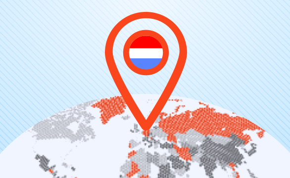 Located in The Netherlands: worldwide service